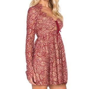 For Love and Lemons Red Charlie Mini Dress